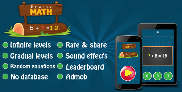 Brainy Math & Flags Quiz Android Games Bundle - 3